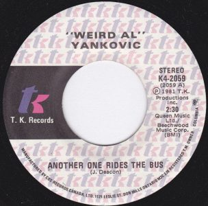 Another One Rides The Bus by Weird Al Yankovic