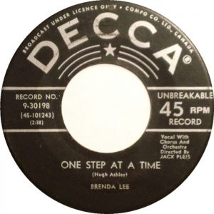 One Step At A Time by Brenda Lee