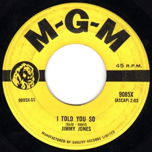 I Told You So by Jimmy Jones