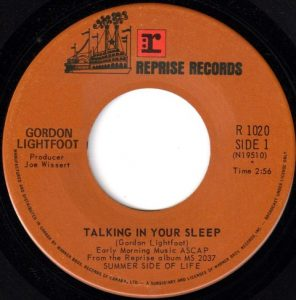 Talking In Your Sleep by Gordon Lightfoot