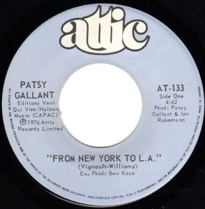 From New York To L.A. by Patsy Gallant