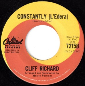 Constantly/True True Lovin' by Cliff Richard