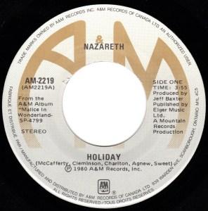 Holiday by Nazareth