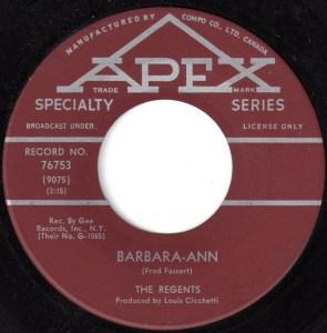 Barbara-Ann by the Regents
