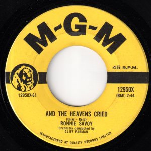And The Heavens Cried by Ronnie Savoy