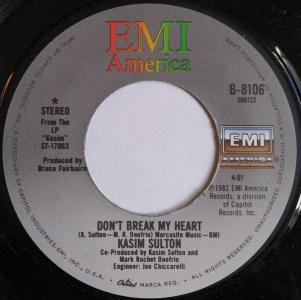 Don't Break My Heart by Kasim Sulton