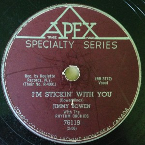 I'm Stickin' With You by Jimmy Bowen
