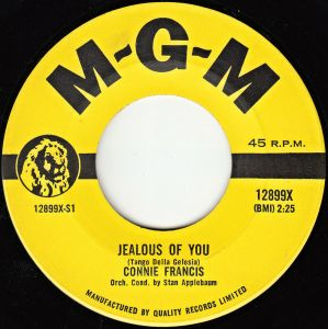Jealous Of You by Connie Francis