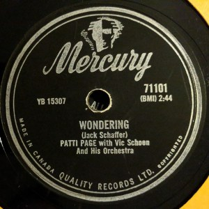 Wondering by Patti Page