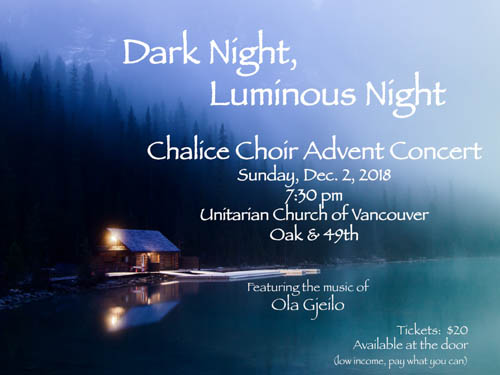 Chalice Choir Advent Concert:  Dark Night, Luminous Night,