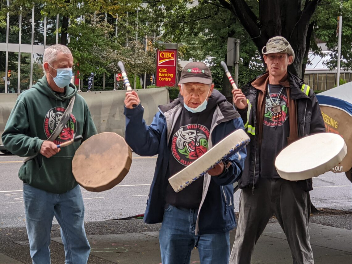 Drummers from the Wild Salmon Defenders Alliance