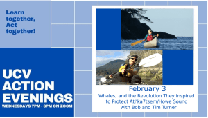 Action Evening - Whales, and the Revolution They Inspired to Protect Átl'ka7tsem/Howe Sound
