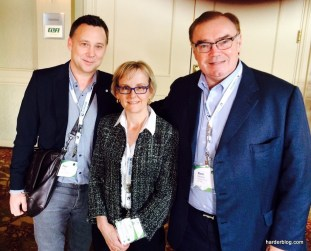 with Anne Giardini, President Weyerhauser Company Ltd. and Ken Shields, President and CEO Conifex Timber Inc.