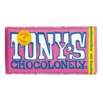 Tony's Chocolonely Chocoladereep Framboos Knettersuiker