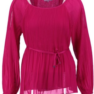 Glamorous 2 laagse polyester roze blouse