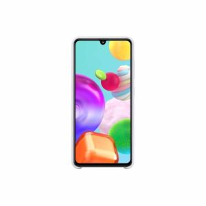 Samsung telefoonhoesje Silicone Cover Galaxy A41 (Wit)