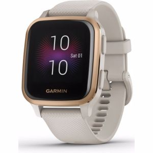 Garmin smartwatch Venu Sq Music Edition (Licht Zand)