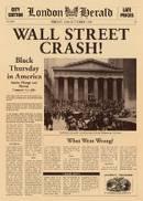 Krantenbericht over de beurskrach op Wall Street