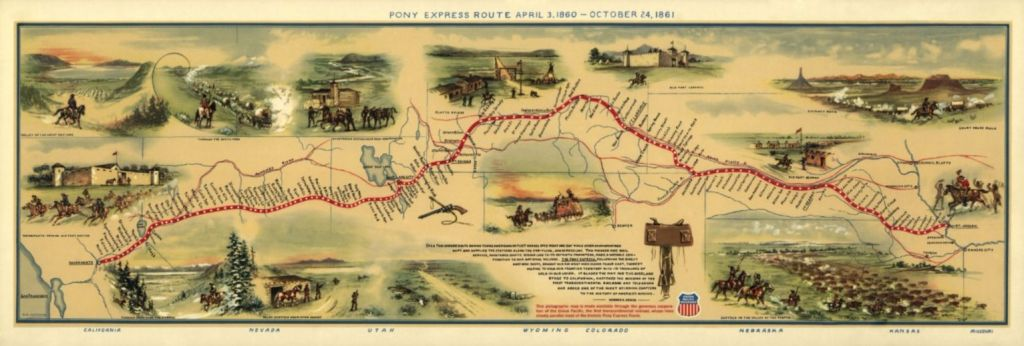 Geïllustreerde route – William Henry Jackson, 1861