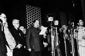 Mao Zedong roept de Volksrepubliek China uit, 1 oktober 1949