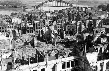 Nijmegen werd tijdens de Tweede Wereldoorlog door geallieerden gebombardeerd