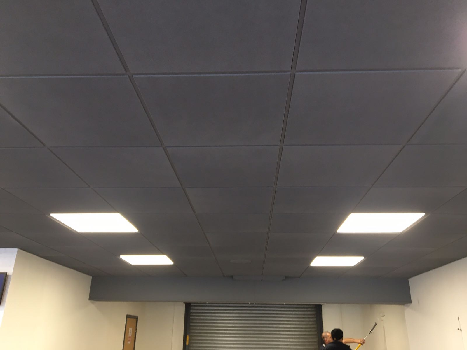 Suspended Ceiling Spraying Brighten Up Your Office