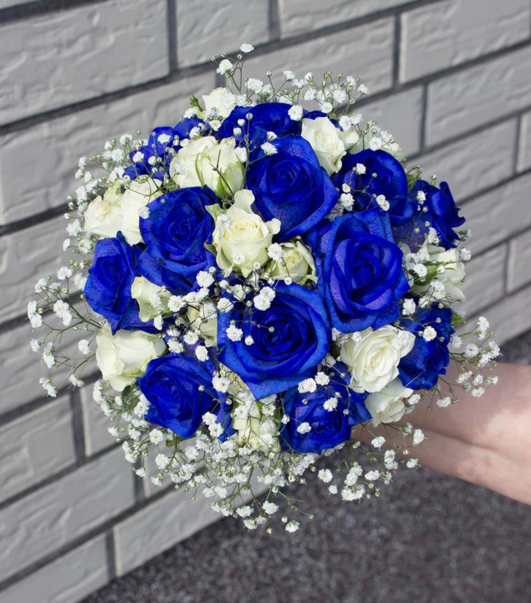 Blumendeko fr Hochzeit in Blau oder Trkis  Vanda Deko und Floristik