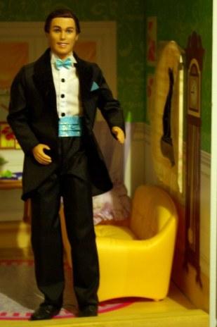 Ken doll in tuxedo