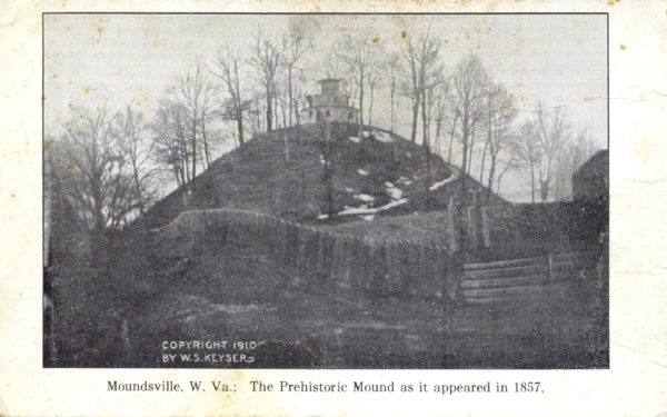 The Prehistoric Mound as it appeared in 1857
