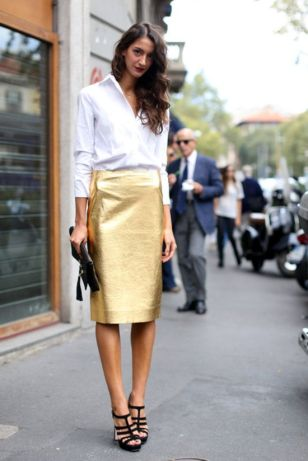 metallics-and-white-shirt