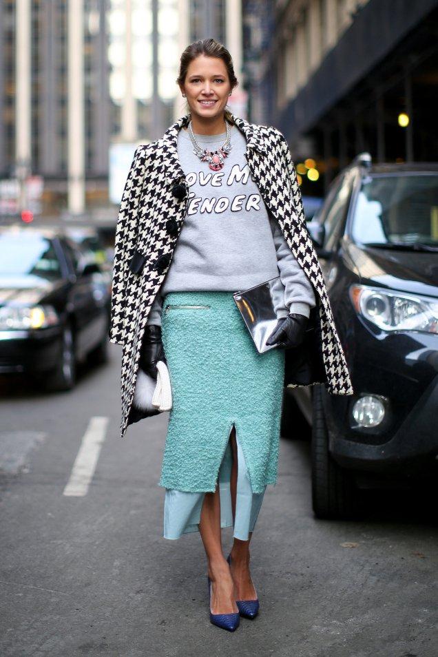 Nothing-like-statement-sweatshirt-remix-polished-pencil-skirt