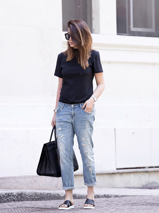 How-To-Be-Chic-In-Jeans-and-Tee-shirt4