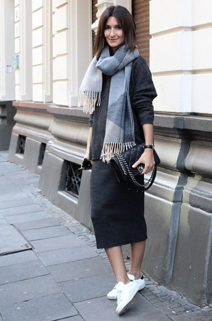 pencil-midi-skirt-and-white-shoes