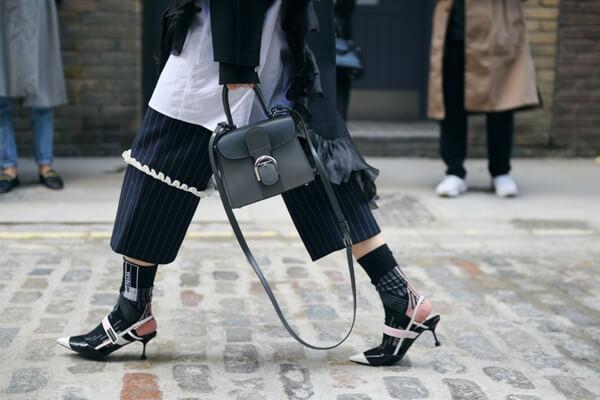 Heels over socks at London Fashion Week Fall 2018