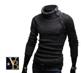 high collared warm sweater grey Vanderbilt Bijl