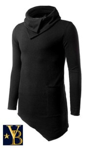 irregular sweater black vanderbilt bijl