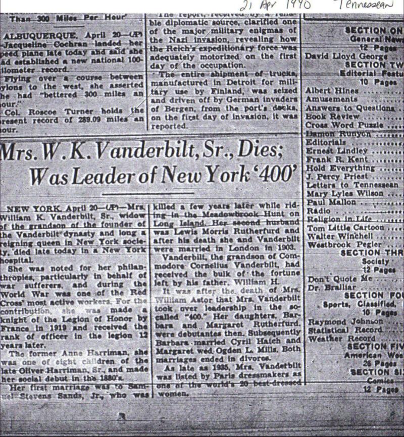 Vanderbilt Family Genealogy My Fascination With All Things Vanderbilt