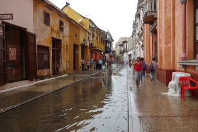 First rain in may, Cartagena