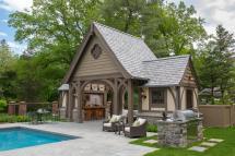 Tudor Pool House Cabana Designs