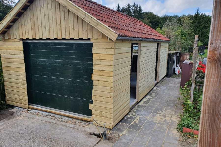 Garage hok plaatsen Van der Weg Bouw en Onderhoud