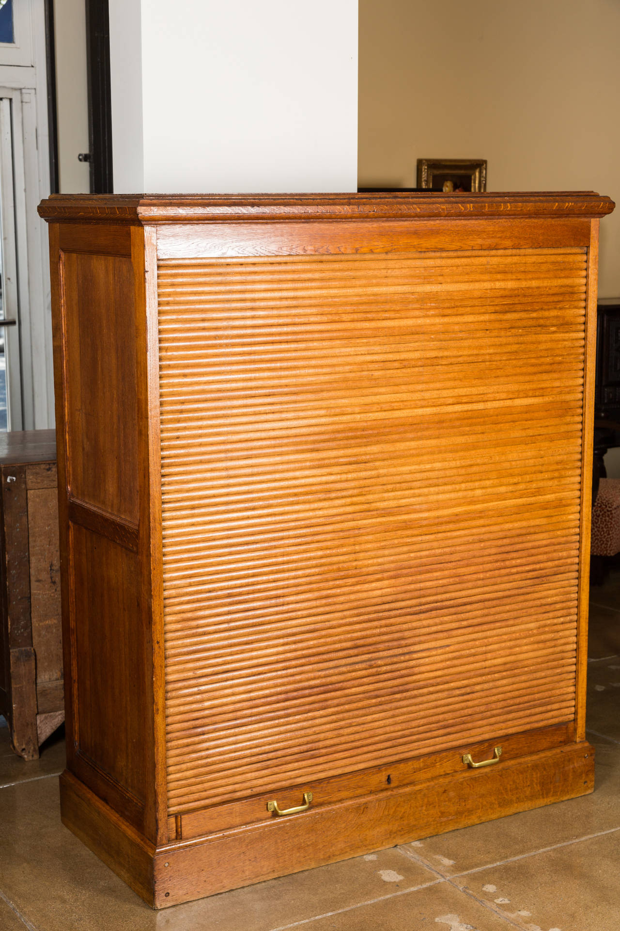 Antique Rollup File Cabinet in Oak for Sale  VANDEUREN