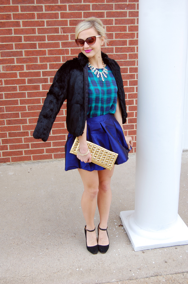 fur-plaid-tulle-outfit