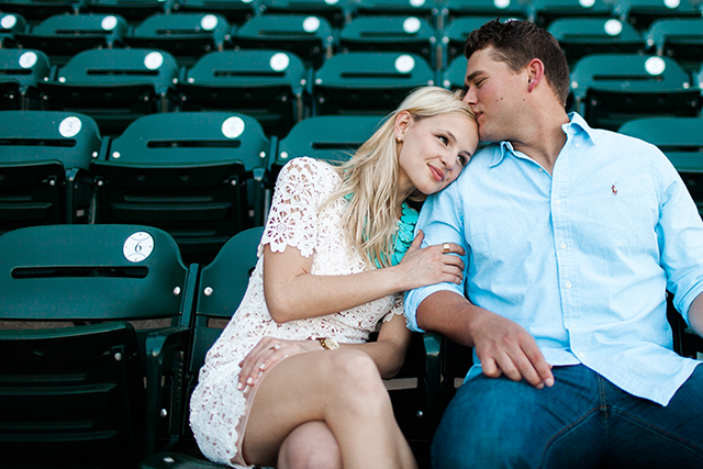 baseball-stands-engagement-photo