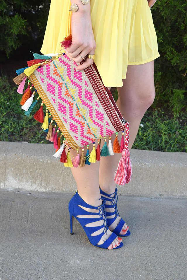 fringe colorful necklace