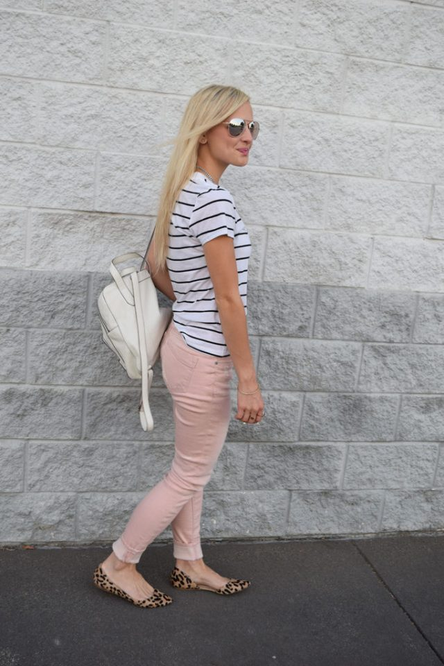 light pink jeans