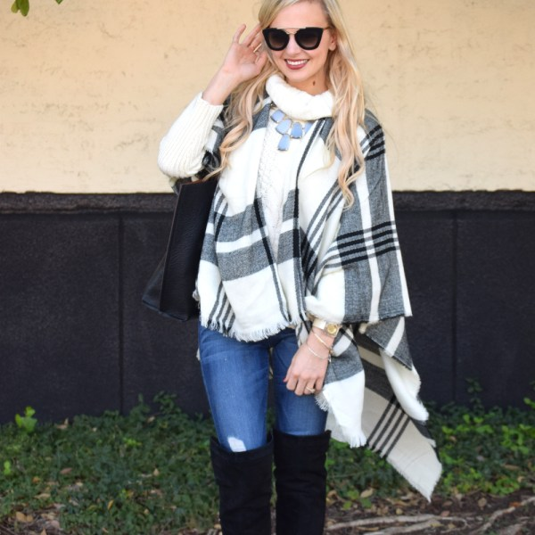 cozy chic blogger outfit