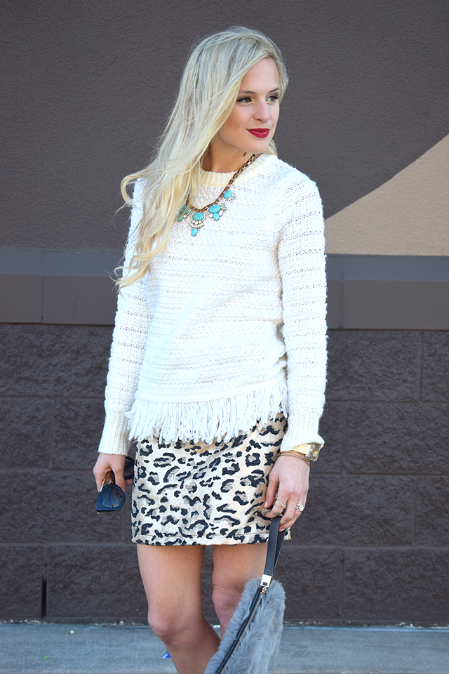 dressy sweater outfit