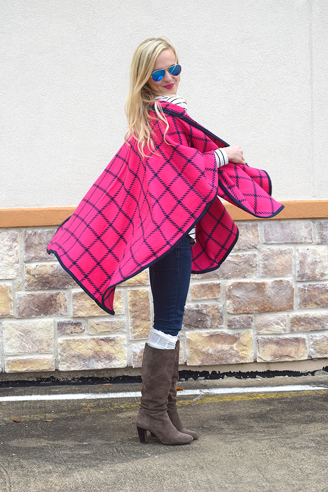 pink plaid cape