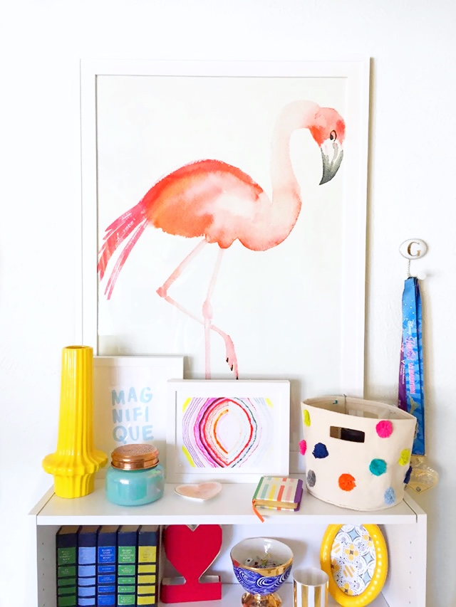 minted flamingo art print