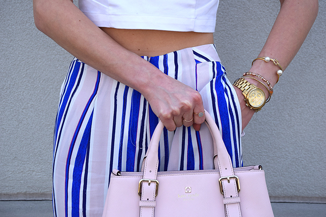 light pink and cobalt outfit